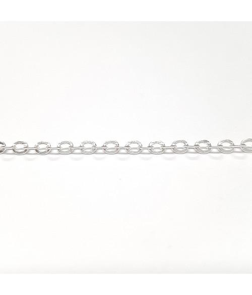 Chaine ronde à maillons croisés 2,5 x 2 mm (1 mètre)