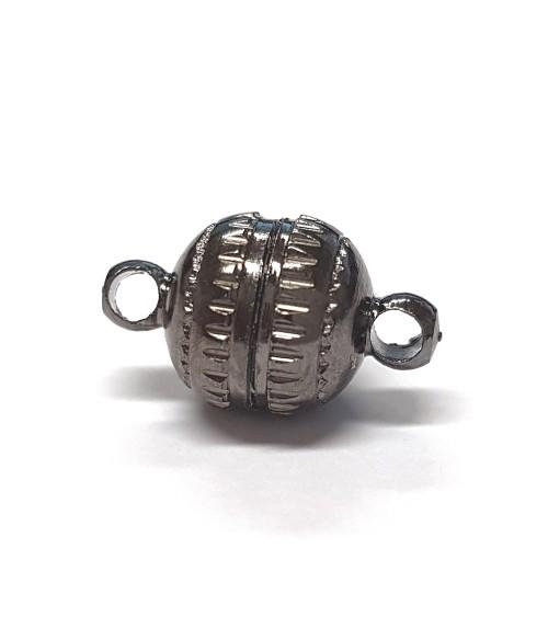 Fermoir aimanté rond Aztèque en laiton 14 x 8 mm (5 pièces)