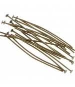 Tiges clous à têtes plates 50 mm (200 pièces) - Bronze
