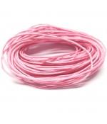 Fil coton ciré 1 mm (10 mètres) - Rose