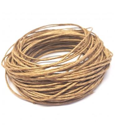 Fil coton ciré 1 mm (10 mètres) - Brun