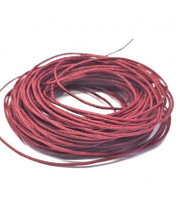 Fil coton ciré 1 mm (10 mètres) - Rouge brique