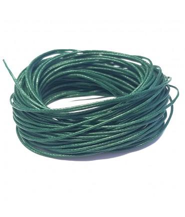 Fil coton ciré 1 mm (10 mètres) - Vert sapin
