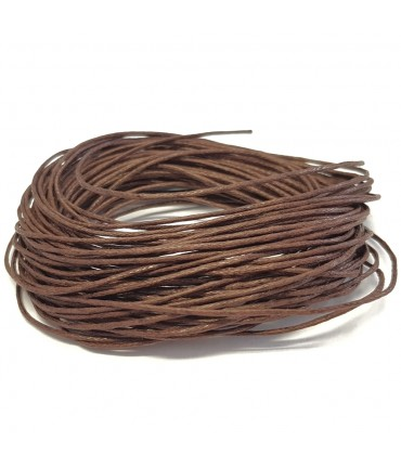 Fil coton ciré 1 mm (10 mètres) - Marron foncé