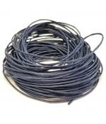 Fil coton ciré 1 mm (10 mètres) - Bleu marine