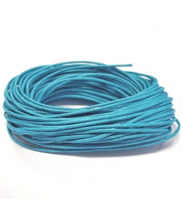 Fil coton ciré 1 mm (10 mètres) - Turquoise