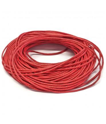 Fil coton ciré 1 mm (10 mètres) - Rouge