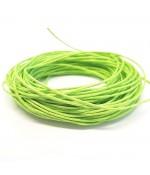 Fil coton ciré 1 mm (10 mètres) - Vert