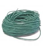 Fil coton ciré 1 mm (10 mètres) - Emeraude