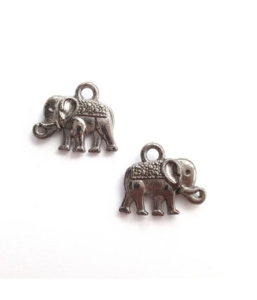 Breloque pendentif Eléphant anthracite