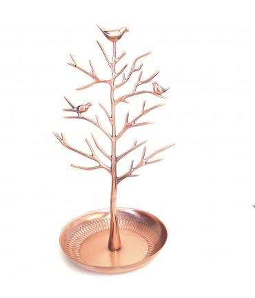 Porte bijoux arbre métal avec corbeille