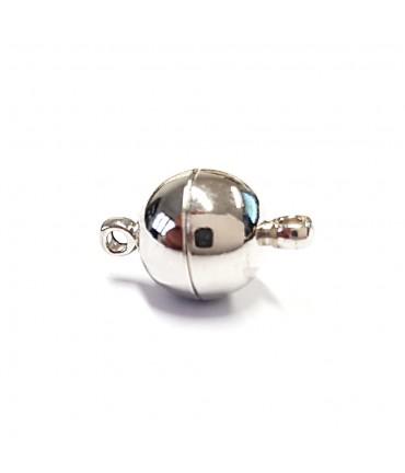Fermoir magnétique rond en laiton 16 x 10 mm (5 pièces) - Gris