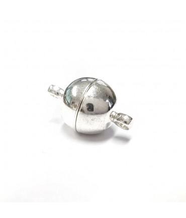 Fermoir magnétique rond en laiton 16 x 10 mm (5 pièces) - Argenté