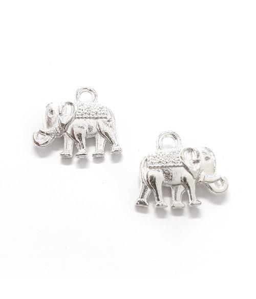 Breloque pendentif Eléphant argenté