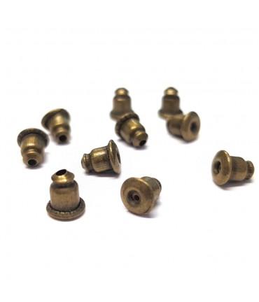 Fermoir boucle d'oreille plaqué laiton (10 pièces) - Bronze