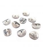 Perles intercalaires métal ondulé 8.5 x 9.5 mm