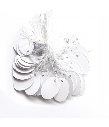Etiquettes pour bijoux ovales 26 x 18 mm (100 pièces)
