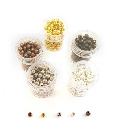 Perles intercalaires 4 mm kit plusieurs couleurs - Assortiment