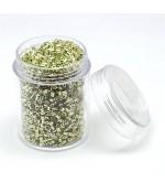 Perles de rocaille irisées tubes à facettes 1.8 à 2.3 mm (3000 pièces)