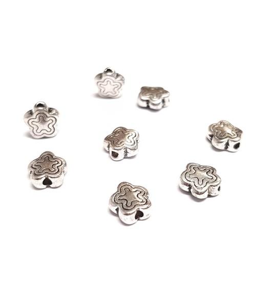 Perles métal étoile style tibétain 7 mm