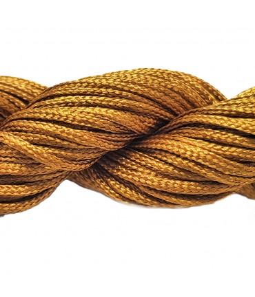 Fil nylon 1 mm pour bracelet shamballa écheveau de 24 mètres - Ocre