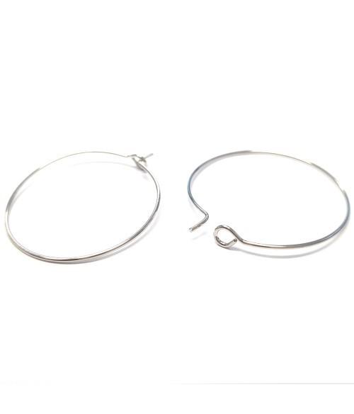 Boucle d'oreille créole cerceaux 30 mm (10 pièces)