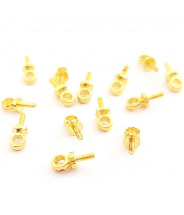 Bélière atteches perles pour fil de 1.6 mm (10 pièces)