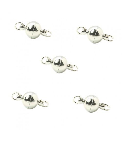 Fermoir aimanté rond en laiton 14 x 8 mm (5 pièces)