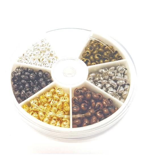 Boite de cache perles à écraser 4 mm (420 pièces)