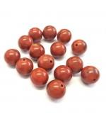 Perles rondes pierre gemme naturelle jaspe rouge