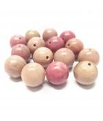 Perles rondes pierre gemme naturelle rhodochrosite