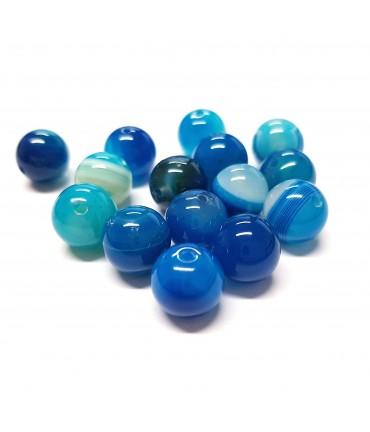 Perles rondes pierre gemme naturelle agate striée
