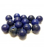 Perles rondes pierre gemme naturelle lapis-lazuli