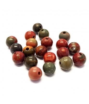 Perles rondes pierre gemme naturelle picasso