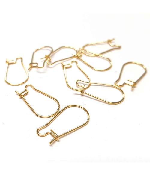 Crochets boucles d'oreilles acier inox 20 x 10.5 mm (10 pièces)