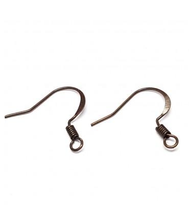 Crochets boucle d'oreille 15 mm  (20 pièces)