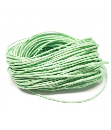 Fil coton ciré 1 mm (10 mètres) - Vert clair