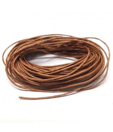 Fil coton ciré 1 mm (10 mètres) - Camel