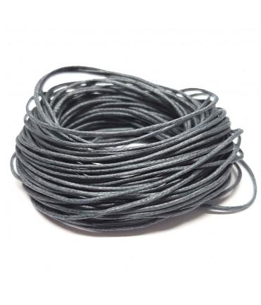 Fil coton ciré 1 mm (10 mètres) - Gris