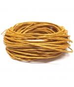 Fil coton ciré 1 mm (10 mètres) - Doré