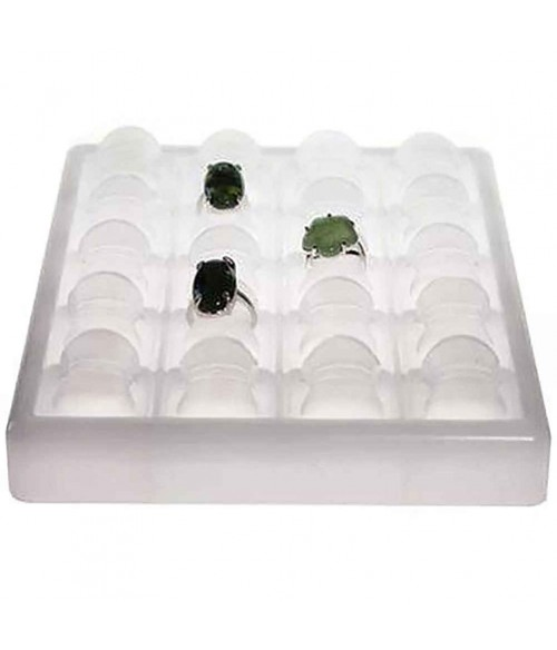 Plateau bijoux pour bagues Glaçons en plastique (20 bagues)