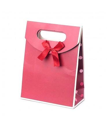 Pochette cadeau 16.5x12.5 cm rouge lot de 12
