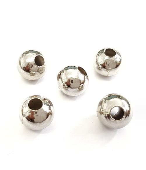 Perles metal boules creuses 12 mm