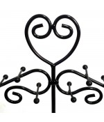 Présentoir mixte coeur avec corbeille