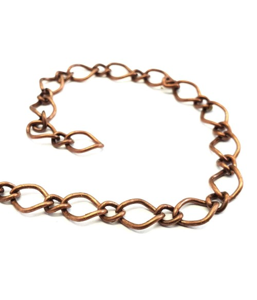 Chaine maille 10 x 7 mm cuivre