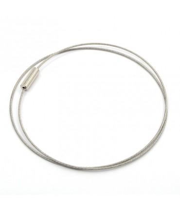Colliers tours de cou fil cablé et fermoir à vis (5 pièces) - Gris