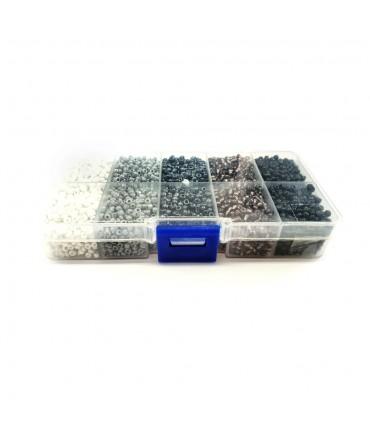 Kit de perles de rocaille 3 mm multicolore (5000 pièces)