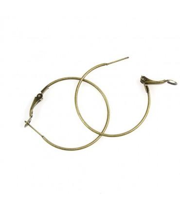 Boucle d'oreille créole support bijoux 35 mm (10 pièces)