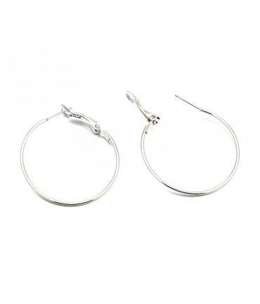 Boucle d'oreille créole support bijoux 35 mm (2 pièces) - Gris