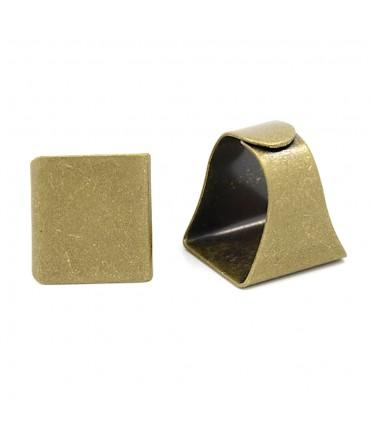Supports de chevalières plateau 20x19 mm doré (1pièce)